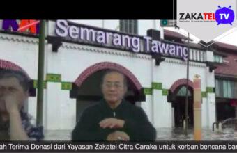 Serah terima bantuan banjir kota Semarang dari Zakatel